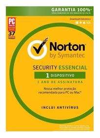 Norton Security Essencial 2019 1 Ano 1 Pc .. Leia!