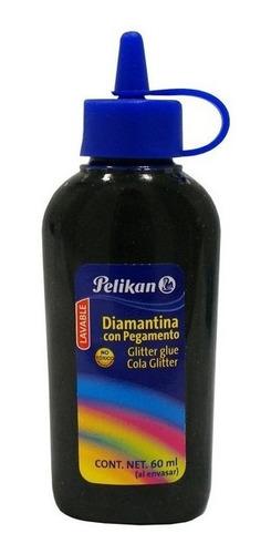 Brillantina Goma Glitter | Pelikan | 60 Ml | Negro