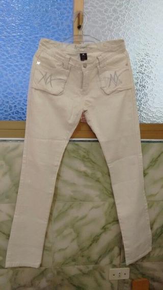 Pantalon Jean Blanco Para Dama Talla 11/12