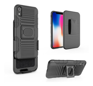 Capa Case iPhone Xr 6.1 Anti Impacto Clip + Pelicula Vidro
