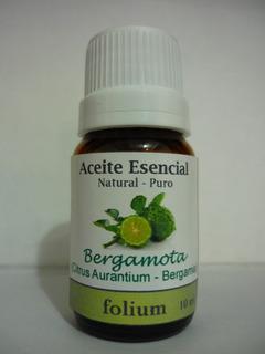 Aceite Esencial De Bergamota Natural Puro Folium 10 Ml