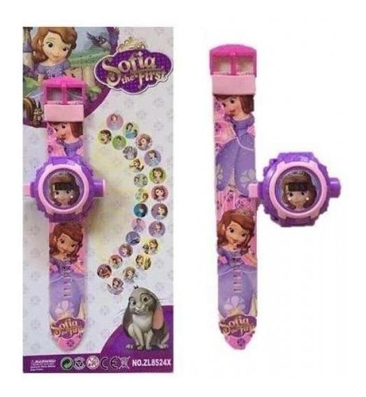 Relógio Infantil Projetor Princesa Sofia Digital