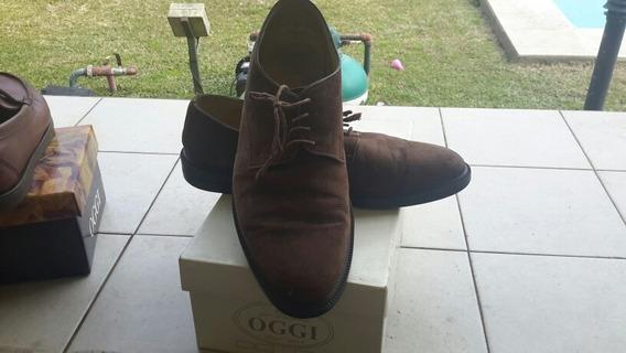 Zapatos De Gamuza Acordonados Marca Oggi Numero 43