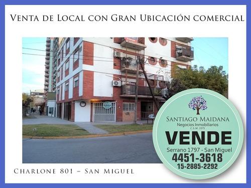 Imagen 1 de 8 de Local En Venta En Excelente Esquina De San Miguel