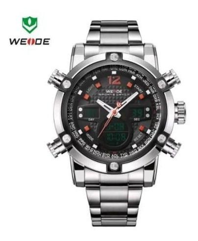 Relógio Masculino Weide Original Dual Time Modelo 5205