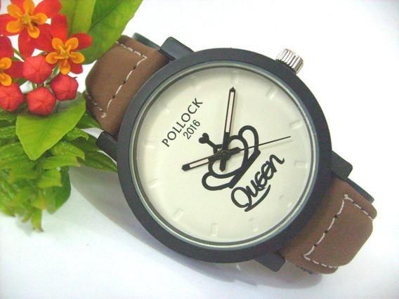 Relógio De Pulso Retrô Masculino Feminino Promoção R590