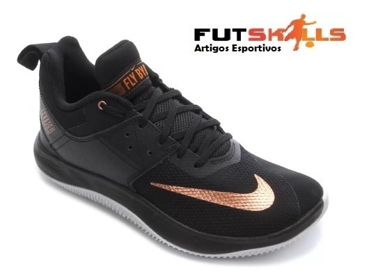 Tênis Masculino Nike Nike Fly By Low Ii - Preto E Bronze