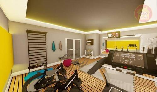 Apartamento À Venda, 66 M² Por R$ 337.000,00 - Caiçara - Praia Grande/sp - Ap5117