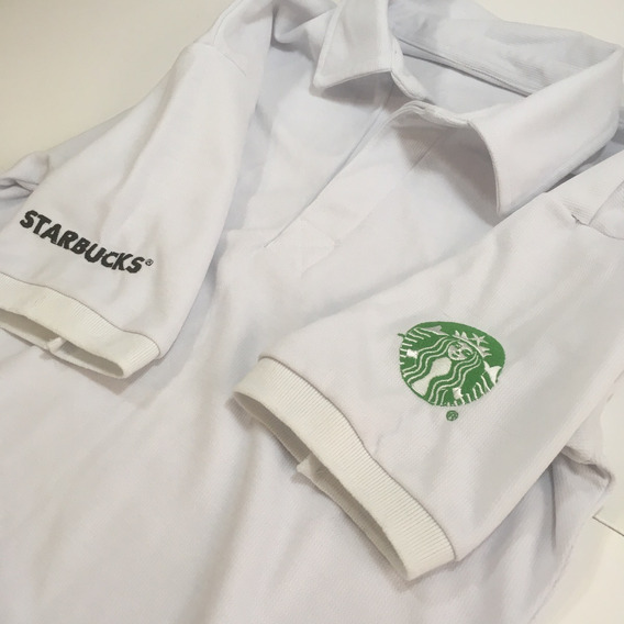 Uniforme Starbucks Playera Tipo Polo Hombre Slimfit