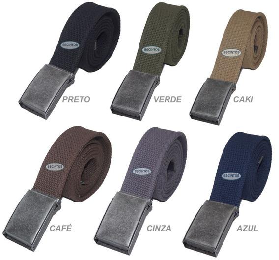 Cinto Plus Size Masculino Lona Premium 2 Bordas 4cm L40vd