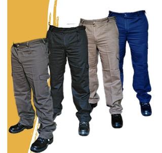 Kit De 4 Pantalones Cargo De Trabajo Tipo Grafa Talle 40/60