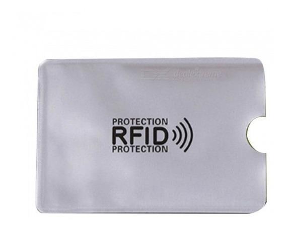 10 Protectores Rfid Tarjetas De Crédito Débito Clonacion