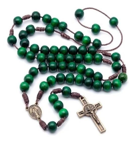 Kit 06 Terços Para Acampamento De Oração Verde No Cordão 995