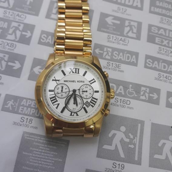 Relógio Michael Kords Banhado Impecável Pouco Uso