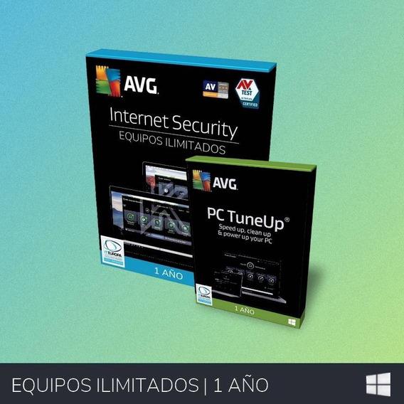 Antivirus Avg Internet Security 2019 - Ilimitado | Combo