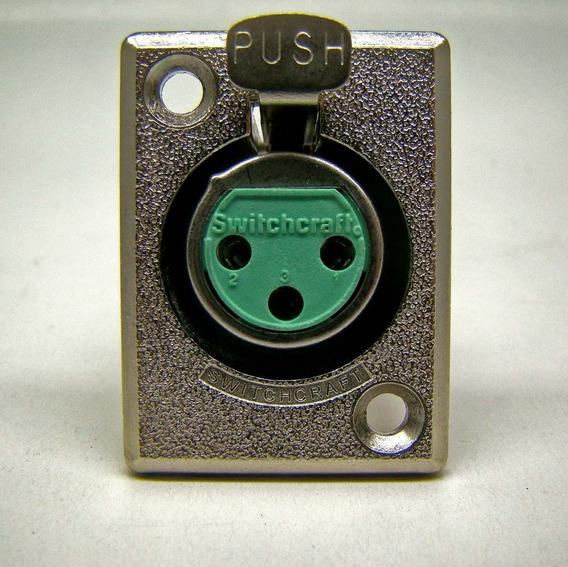 Conector Xlr 3p Fêmea D3f Switchkraft Kit 10 Pçs