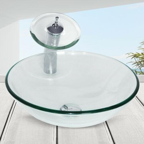 Glass Sink O - Baño Recipiente Fregadero Lavabo Bowl Ce-2626
