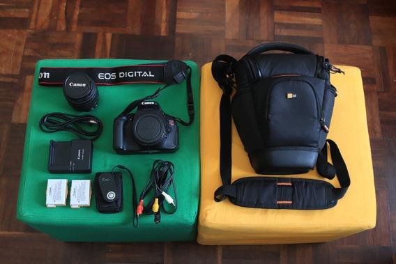 Canon T3i + Lente Canon 18-55mm + 2 Baterias + Case