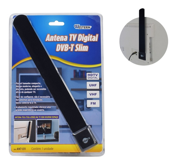 Antena Tv Digital Dvb-t Slim Ant-011 Western