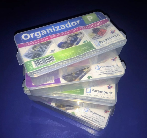 Box Organizador - C/ 5 Divisórias Estojo P