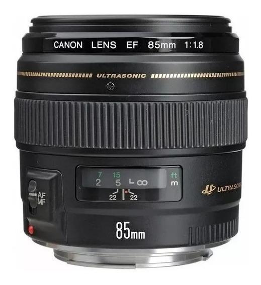 Lente Canon Ef 85mm F1.8 Usm Nota Fiscal E Garantia 1 Ano