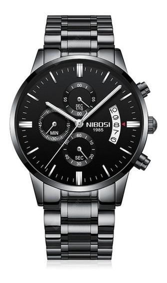 Relógio Masculino Nibosi Cronógrafo Marca De Luxo, Promoção