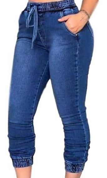 Calça Jeans Feminina Jogger Cos Elastico Blogueira Jog01