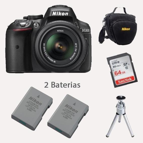 Câmera Nikon D5300 Hd 18-55mm+64gb +baterias+bolsa+tripé
