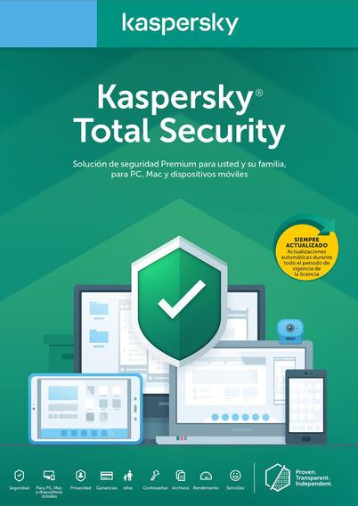 Licencia Kaspersky Total Security 10 Dispositivos 1 Año