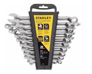 Juego 20 Llaves Combinadas Acodadas Stanley Stmt97570