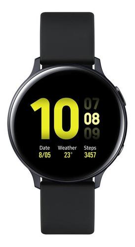 "Samsung Galaxy Watch Active2 (Bluetooth) 1.4"" caixa 44mm de  alumínio  aqua black pulseira  aqua black de  fluoroelastómero e o arco  aqua black SM-R820"