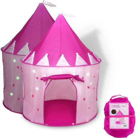 Carpa Tienda Campaña Castillo Niñas Brilla En La Oscuridad