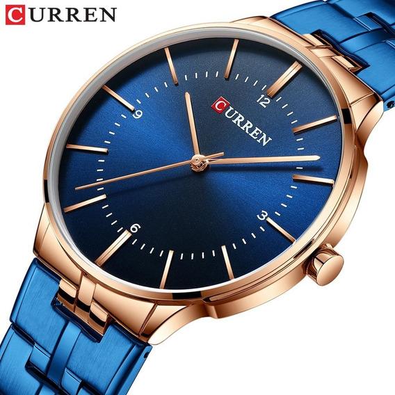 Relógio Curren 8321 Original Marca De Luxo Elegante Aço Inox