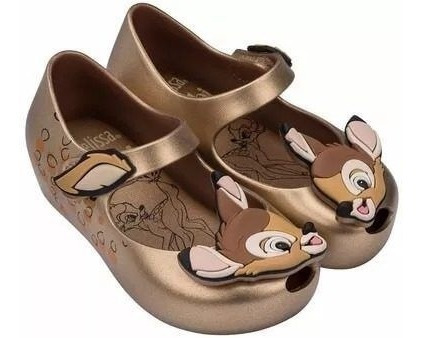 Sapatilha Mini Melissa Ultragirl + Bambi Dourada X323670