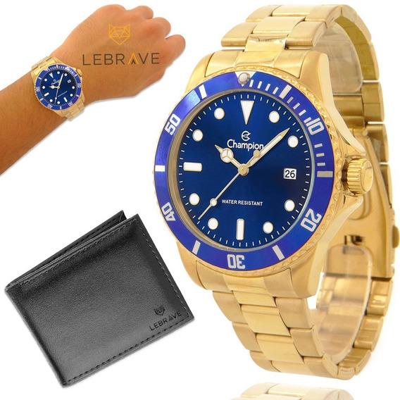 Relógio Champion Original Garantia 1 Ano + Carteira Lebrave