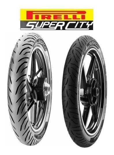 Par Pneu De Moto 90/90 18 E 2.75 18 Pirelli Super City