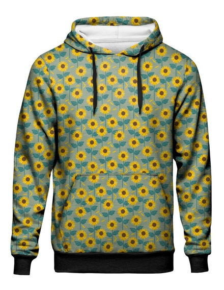 Moletom Canguru Girassol Sunflower Tumblr Retro Soft Girl