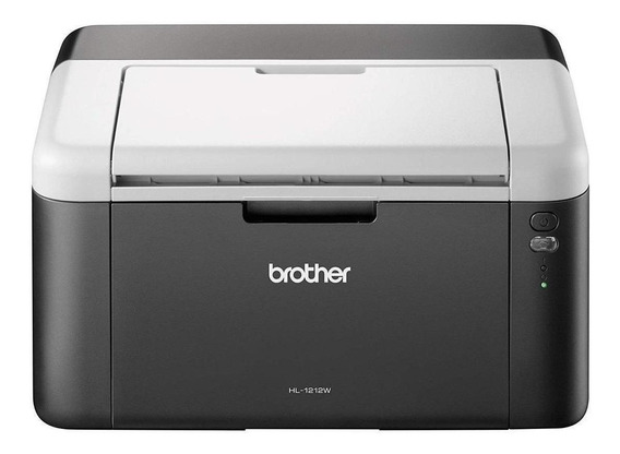Impresora Brother HL-1 Series HL-1212W con wifi 220V negra y blanca