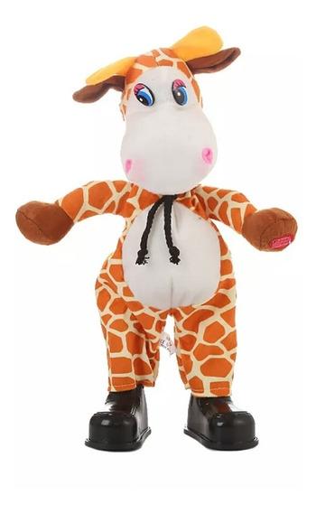 Girafa Dançante Elétrica Toca Música Enquanto Dança 32 Cm