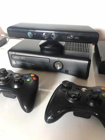 X-box 360 + 2 Controles + Kinect + 4 Jogos