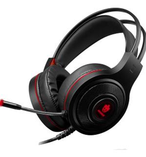 Headset Gamer Evolut Têmis Eg301r P2 3,5mm + Usb P/ Led Red