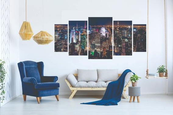 Kit Quadro Decorativo Sala Peças Mosaico Cidade
