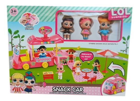 Set De Carro De Comida Lol Surprise + Muñecas Y Accesorios