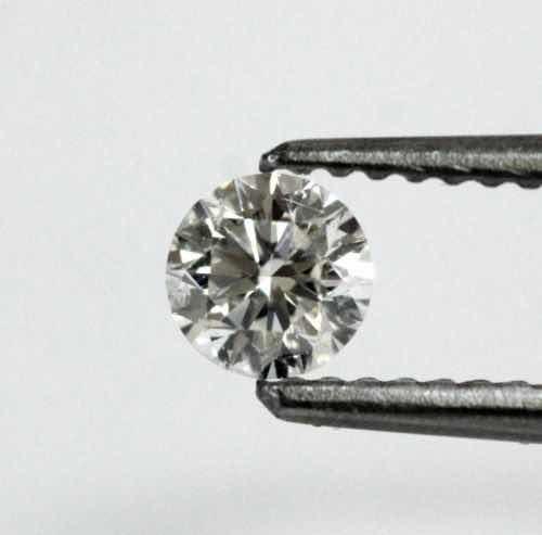Diamante Natural 38 Pts Cor H, Si2, 4.40 Mm !!!