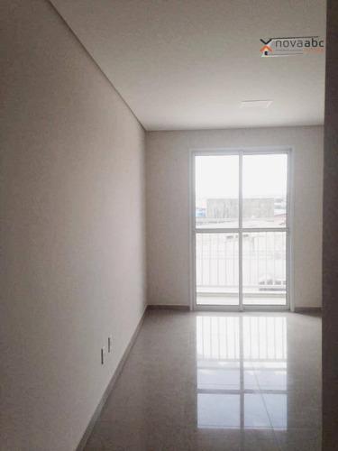 Apartamento Com 3 Dormitórios À Venda, 60 M² Por R$ 315.000,00 - Vila Homero Thon - Santo André/sp - Ap2662