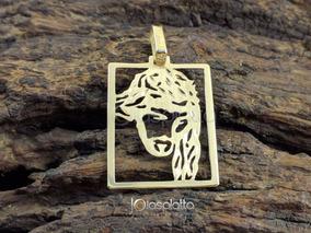 Pingente Placa Face De Cristo 5,0g - Ouro 18k - 750