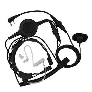 Tenq Grado Militar Auricular De Microfono De Garganta Pieza