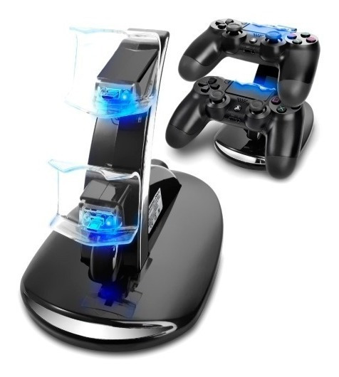 Base Soporte Cargador 2 Joystick Doble Ps4 Slim Y Pro