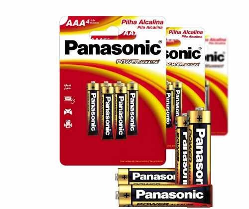 Pilha Alcalina Power Palito Aaa Panasonic 12 Cartela Com 6