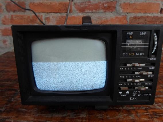 Mini Tv 5´´polegada Preto/branco Radio Am/fm 110/220 Volts